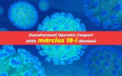 Temetői és vérvételi szabályokat módosított a Dunaharaszti Operatív Csoport