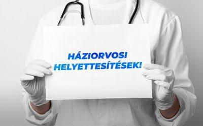 Helyettesítések a háziorvosi szolgálatnál