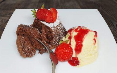 Csokis lávasüti vanília fagyival