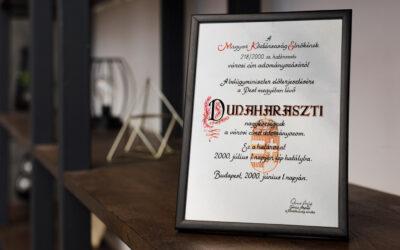 Hivatalosan most 20 éve város Dunaharaszti