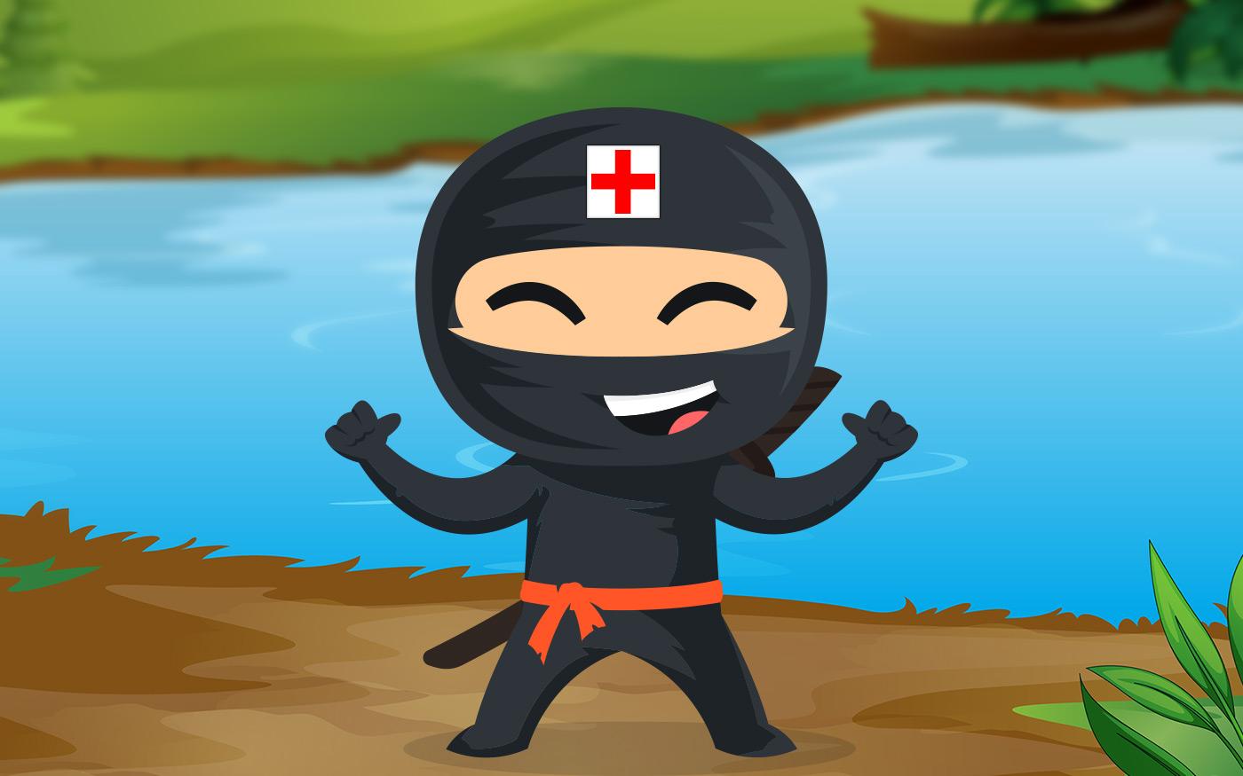 Elsősegély-ninja képzés a Rukkel-tónál