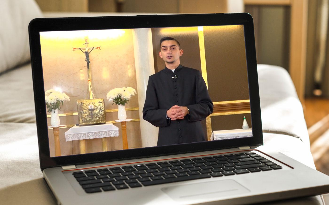 Dunaharaszti káplánja és tanítványai a Váci Egyházmegyei Katolikus Televízióban