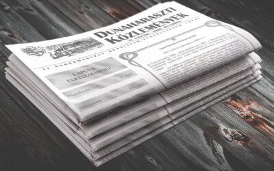20 éves újság a 20 éves várost ünneplő oldalon