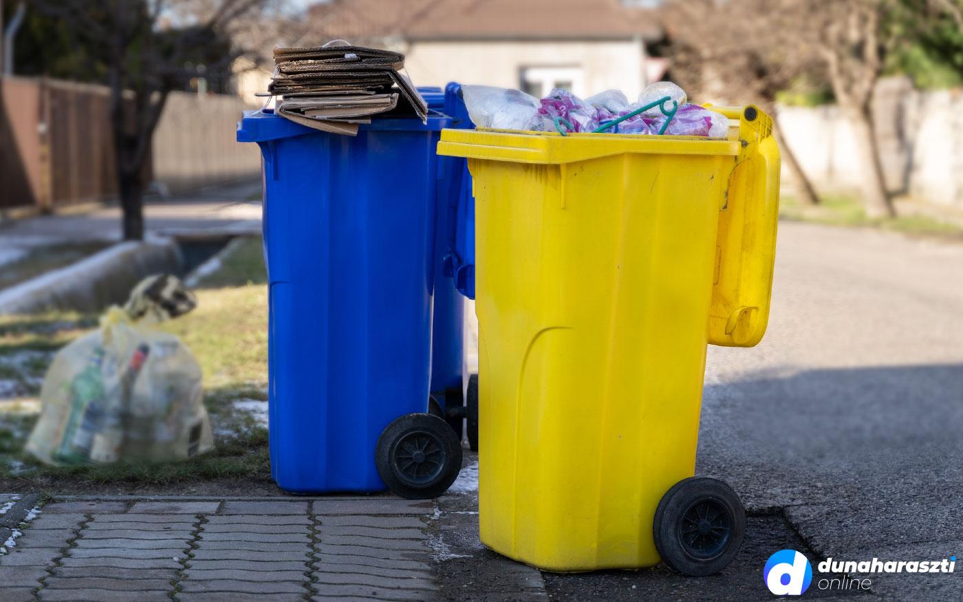 Most nem viszik el a szelektív hulladékot Dunaharasztiról