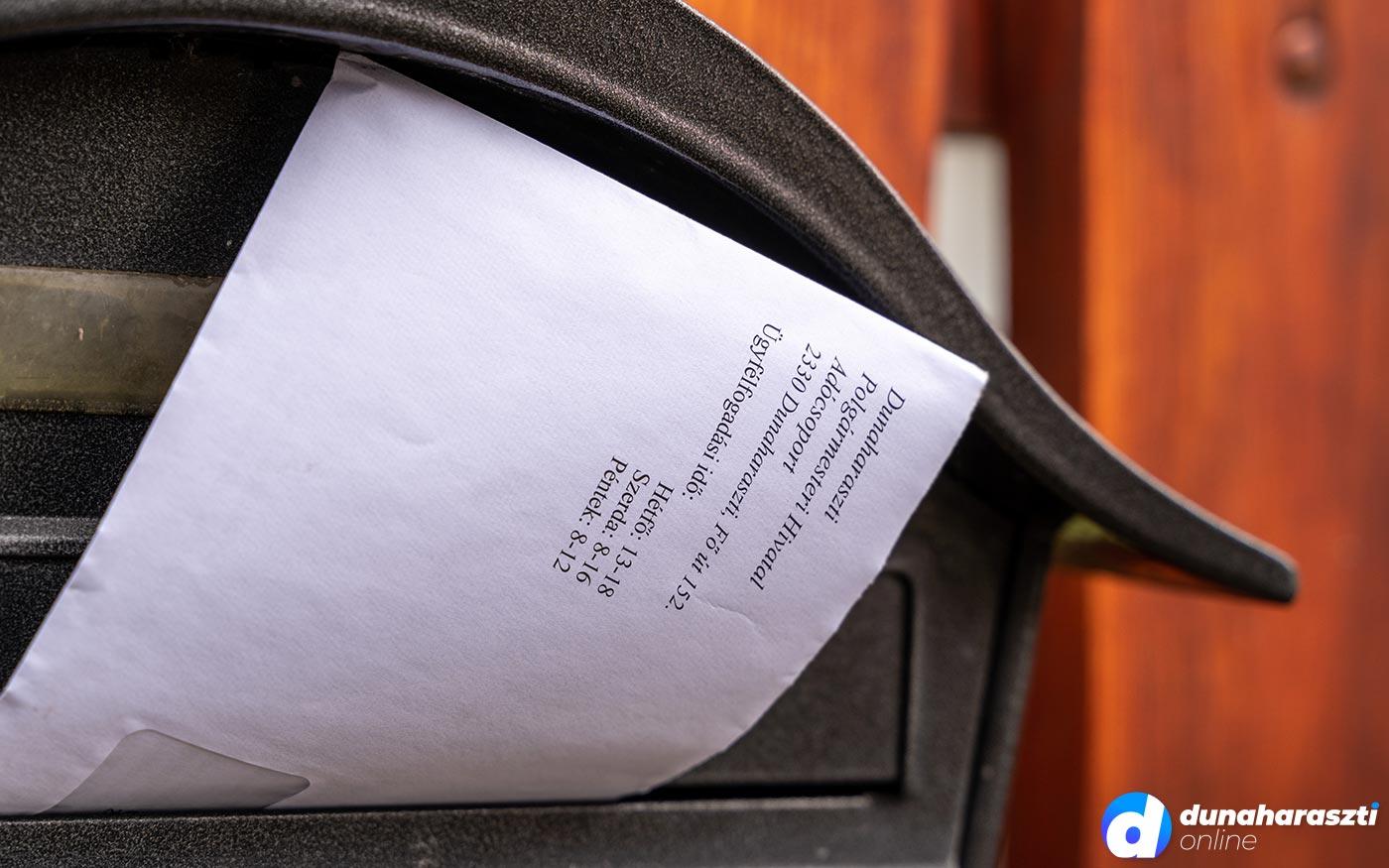 Most küldi a Dunaharaszti önkormányzat a helyi adókról szóló összesítőt