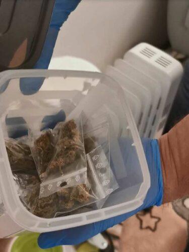 A házkutatás során előkerült anyag egy része. forrás: police.hu