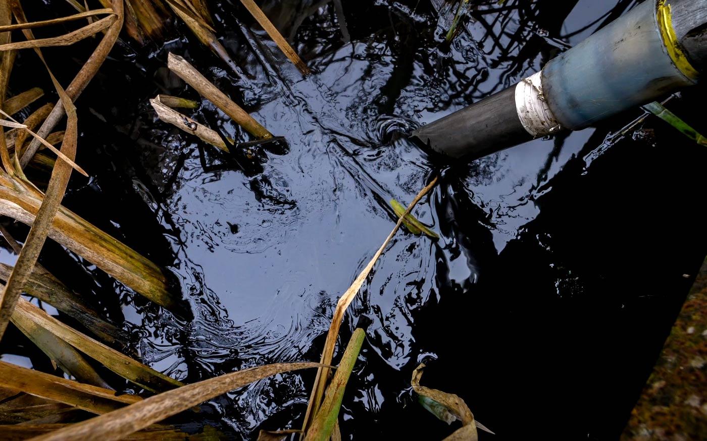 Emberfeletti munka kellett a szigetszentmiklósi olajszennyezés elhárításához