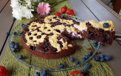 Áfonyás-túrós süti