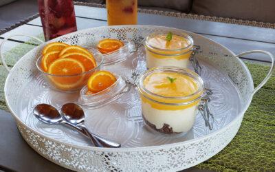 Narancsos pohárkrém