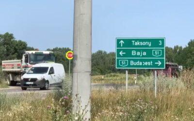 2022-ben épül meg a körforgalom az 51-es út, Taksony-Bugyi kereszteződésében