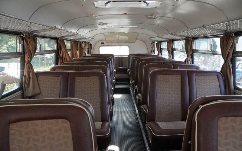 A retró busz belülről. fotó: olvasói kép