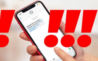 SMS! Ne kattintson a hivatkozásra, ha ilyen üzenetet kap