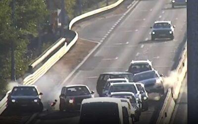 Videón a szerdai M51-esen történt 8-as karambol